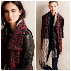 Anthropologie Dolan Lightcatcher Vest Red Black